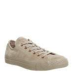 Converse All Star Low Leather Trainers Vintage Khaki Vapour Pink Exclusive