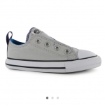 Converse Simple Infants Slip On Trainers สีเทา